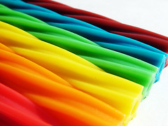 Rainbow Twizzlers Side (compscigrad) Tags: food rainbow colours candy twizzlers sweetcandy