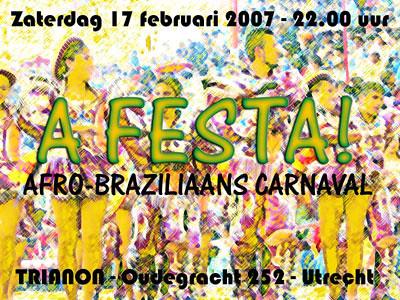 Flyer feest A Festa!