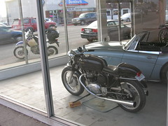 California (aaron fisher) Tags: norton triumph motorcycle suzuki caferacer triton dr650 dualspot