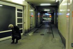 Parking Exit (Andrei Singer) Tags: old woman paris france lady time age marais