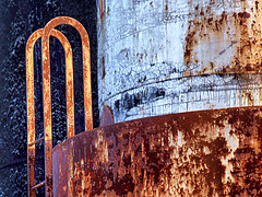 untitled (dbthayer) Tags: ohio abstract rust decay ladder tanks e500