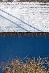 Blue Shed (roddh) Tags: blue shed roof snow icicles roddh nikon d70s raw acr