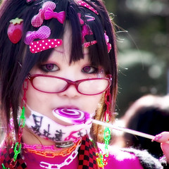 sweetest thing (ajpscs) Tags: street portrait people girl face look japan asian japanese tokyo nice eyes nikon asia pretty cosplay streetphotography kind harajuku friendly  nippon  d100 lovely charming decora hairstyle pleasant delightful  amiable harajukugirl gwenstefani  viviennewestwood genial engaging captivating enchanting appealing sweetestthing agreeable pedestrianparadise utatafeature ajpscs undergroundculture iamyourbiggestfan japanesefashionscene mixedupwithsecondhandclothes moderngeisha distinctivelikedna harajukuvisualgrammar clothingissomethingtoencounter kaleidoscopeoffashion apingpongmatchbetweeneasternandwestern wildhaircolor accessoriesaredeadon coloredcontactlenstosuitsthestyle essenceofharajukugirl newgeisha coloredhairpinseverywhere captionable