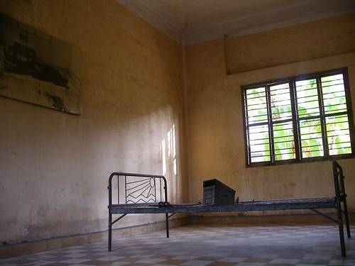 A prison cell @ Tuol Sleng