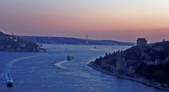 Sunset over Bosphorus-İstanbul (derya_t) Tags: turkey asia europe searchthebest türkiye istanbul türkei İstanbul fortress turkish bosphorus anatolia boğaziçi rumeli boğaz turchia hisar rumelihisarı fotoğrafkıraathanesi turchiatürkiye