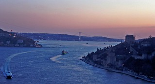 Sunset over Bosphorus-İstanbul