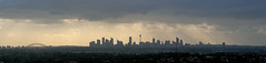 Sydney Thunder Storm (Dean Pemberton) Tags: panorama weather clouds cityscape sydney thunder godlight
