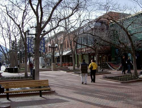 Pearl Street Mall Scene:  Boulder CO
