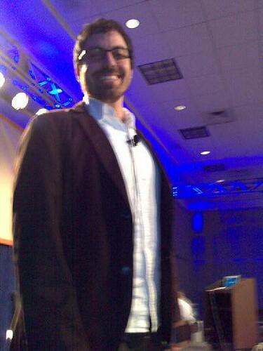 Jason Santa Maria before his panel
