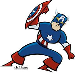 Captain America (pretty cartoony)