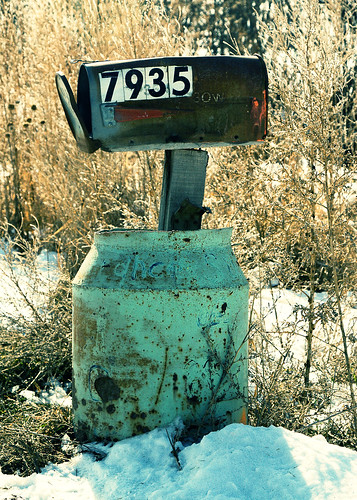 Cross Processed Mailbox