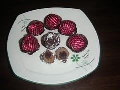 巧克力櫻桃栗子甜心 剖面圖