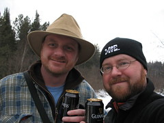 Guinness time on Papineau Creek
