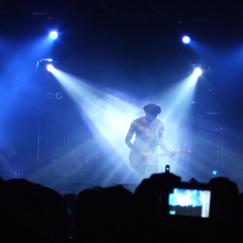 Bloc Party in San Francisco and cameras