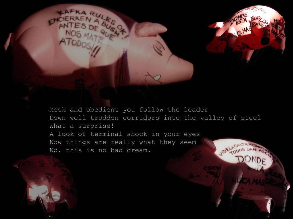 """""""Sheep"""" Colage del gran chancho en el cielo de Buenos Aires, Pink Floyd (Sheep)"""
