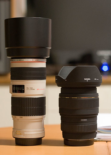 Canon 70-200mm ƒ4 L IS e Sigma 24-70 ƒ2.8