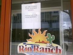Rio Ranch Closed?