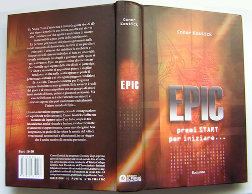 Italian cover for Epic by Conor Kostick