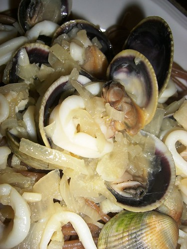 Squid & Cockle pasta
