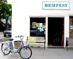 Electric Bike at the Hemp Store