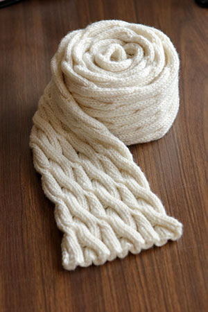 Here and there cables scarf