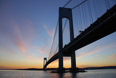Verrazano Bridge, NYC (Daniel A. Norman) Tags: street nyc newyorkcity bridge sunset urban orange streetart color dan water brooklyn artist photographer daniel norman urbanart shore photographicart alastair urbanphotography bllue verrazano artphotography brooklynyc nycphotography brooklynlens nycphotographer brooklynphotographer danielnorman danielanorman newyorkphotographer