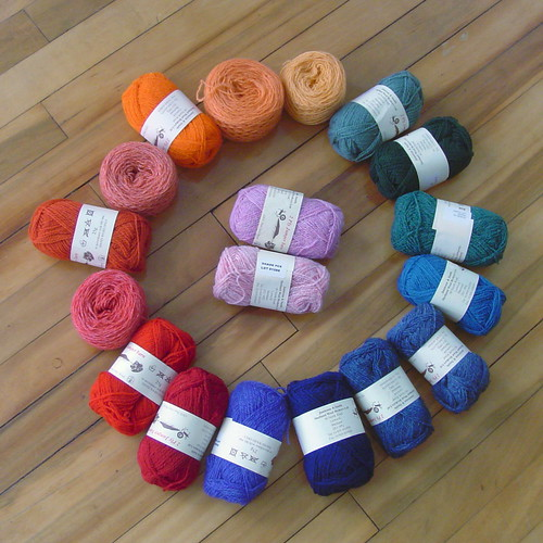 Autumn Color Cardigan yarn