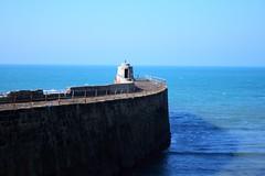 . (yeahferris) Tags: road trip sea vacation wall coast seaside cornwall ferris seawall portreath