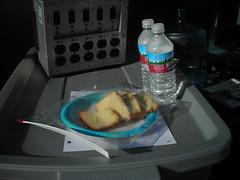 Abandoned plate of cake