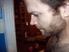 big birthday beard-shave  - phase 2: clippers (saraandaaron) Tags: birthday beard spring shaving shave ritual projectbeardio