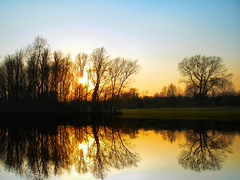 As I Walked Out One Evening (Claudia1967) Tags: reflection love nature water geotagged evening still scenery dusk walk silhouettes calm reflect tranquillity meditative goldenlight imaginarium blueribbonwinner splendiferous supershot i500 specnature abigfave colorphotoaward superbmasterpiece beyondexcellence explore20070331 claudia1967
