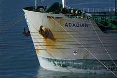 Acadian (Mark Veitch) Tags: ocean water st newfoundland bay boat ship harbour rope cables wires bow anchor oil irving acadian johns tanker fuel