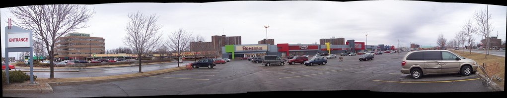 Emerald Plaza and the Zellers strip mall.