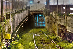muni_tunnel (patrix) Tags: sanfrancisco abandoned fog night train tracks entrance tunnel muni castro tonemapped