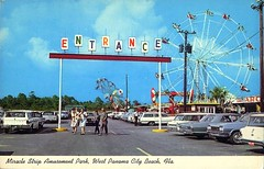 Miracle Strip Amusement Park, 60's Entrance (stevesobczuk) Tags: seaside florida amusementpark panamacitybeach miraclestrip redneckriviera us98 frontbeachrd