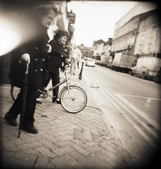 ie.holga.5 (Buck Lewis) Tags: street ireland people blackandwhite bw 120 film holga lightleak killarney thephotoholic