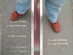 03/04/2007 (Day 124) - Astride The World (Kaptain Kobold) Tags: red feet buenosaires boots greenwich sydney capetown explore jeans wellington canberra 365 montevideo hobart meridian primemeridian longitude day124 kaptainkobold 0degrees 365days yourfave interestingness412 i500 365tuesday 3650407 365set4 365year1