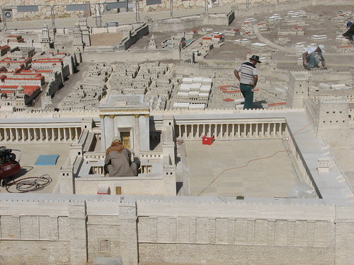 Second Temple Model at Israel Museum Jerusalem before opening 2006-May-08. צילום: Whistling in the Dark. מתוך: flickr