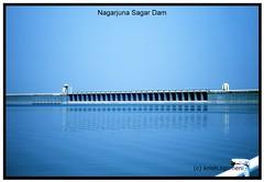 .Blue world. (.krish.Tipirneni.) Tags: blue water dam blues reservoir waters hyderabad nagarjunasagar sagar blueribbonwinner saagar rktnature