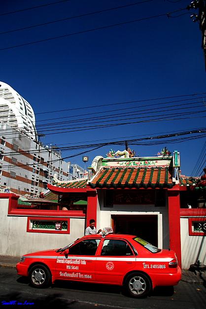 A temple near Saphan Taksin BTS station @ Bangkok