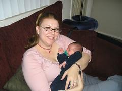 Baby B & Auntie S_smile