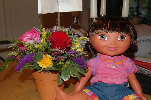 Flowers and Dora