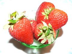 Bowl of Strawberries (Aqua Daisy) Tags: macro strawberries bowl