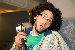 Gym Class Heroes' Travis McCoy (MTV News) Tags: california musicvideo pacoima gymclassheroes mtvnews snakesonaplane cobrastarship travismccoy setvisit