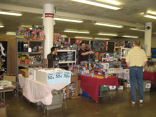 Columbus Toy Show 2007 - Our booth of stuff.