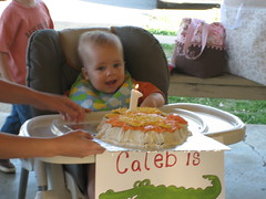 Caleb with his Cake