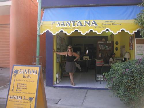 Barefoot at Santana and grinning