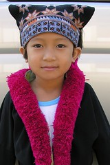 child from the yao or mien tribe