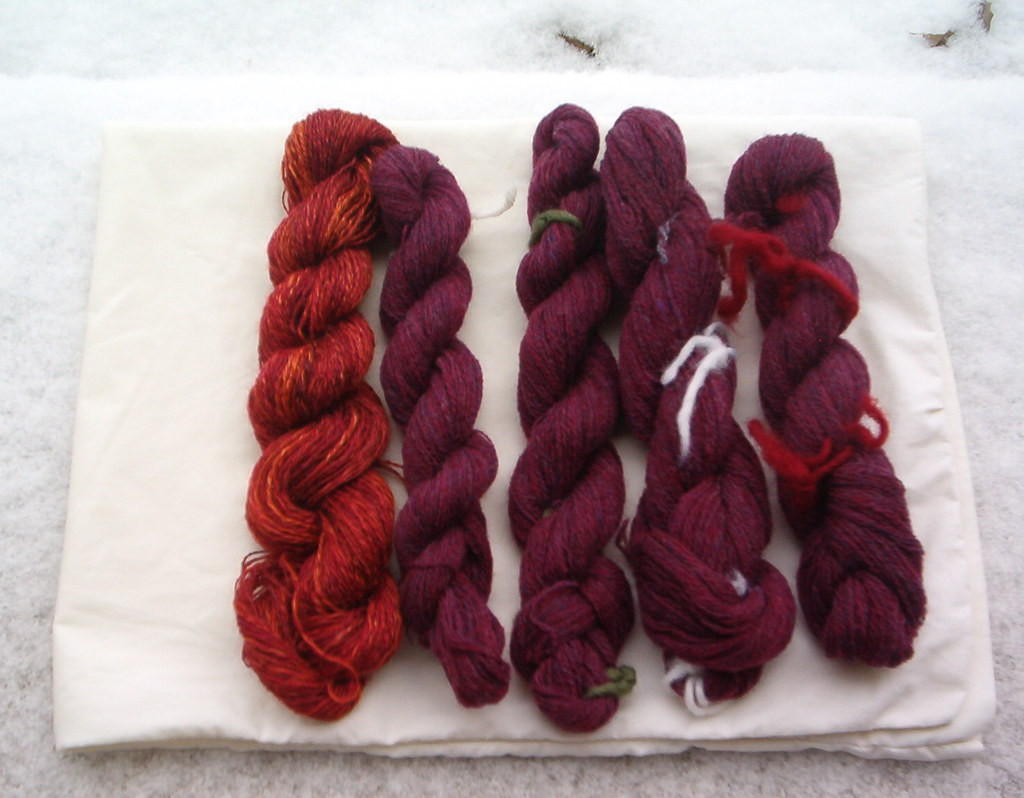 Red silk and red merino
