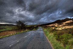 Overcast (Jonnyfez) Tags: road storm weather clouds landscape buxton gloomy peakdistrict leek hdr photomatix d80 axeedge overcaste